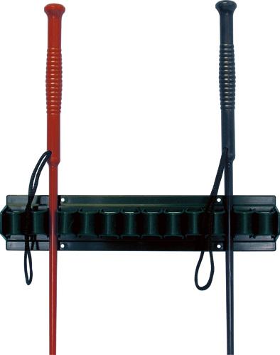 Nástěnný držák na bičíky, černý