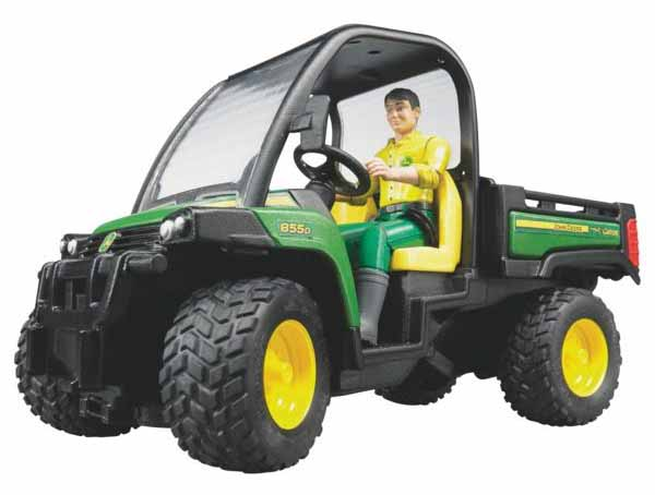Bruder - terénní užitkové vozidlo John Deere Gator XUV 855D včetně figurky řidiče