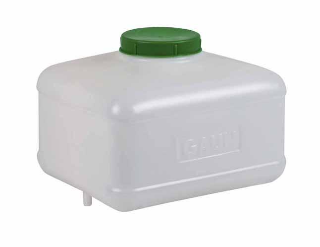 Tank na 8 l pro napájecí systémy hranatý
