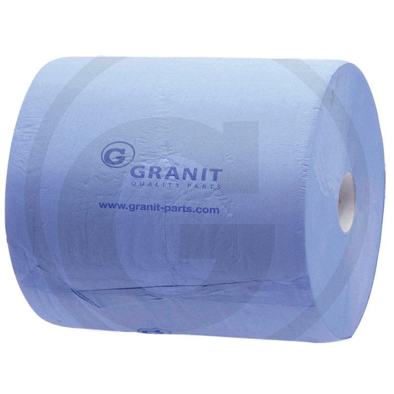 Papírový ručník Granit 1000 útržků 375 x 380 mm 2-vrstvý modrý, utírací papírová role 2 ks