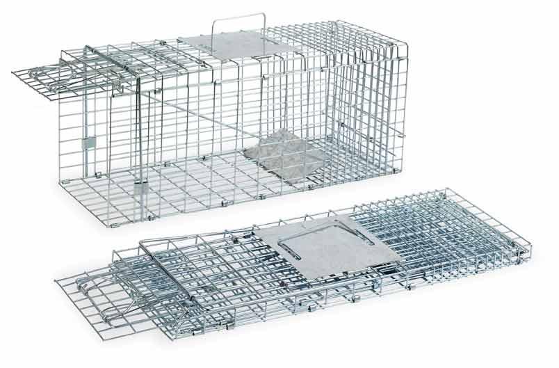 Skládací sklopec na kuny, tchoře a kočky s 1 dvířky střední 660 x 230 x 260 mm