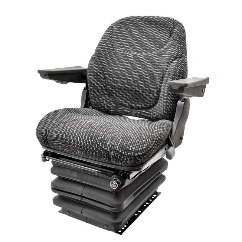 Traktorová sedačka Granit Nitron vzduchové odpružení látkový potah černý