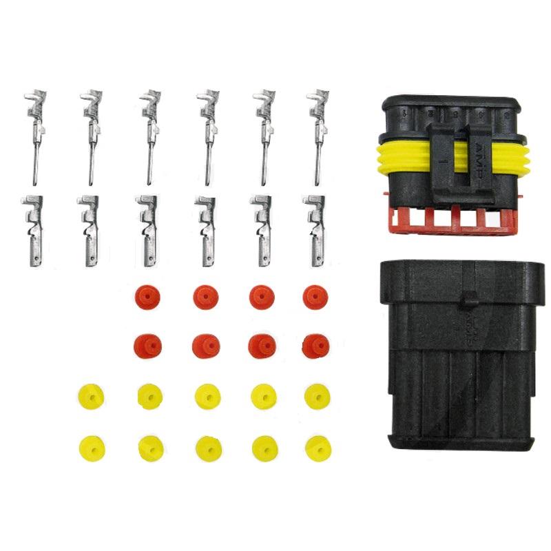 Sada konektorů, zástrček a dutinek plochých 5-pólových