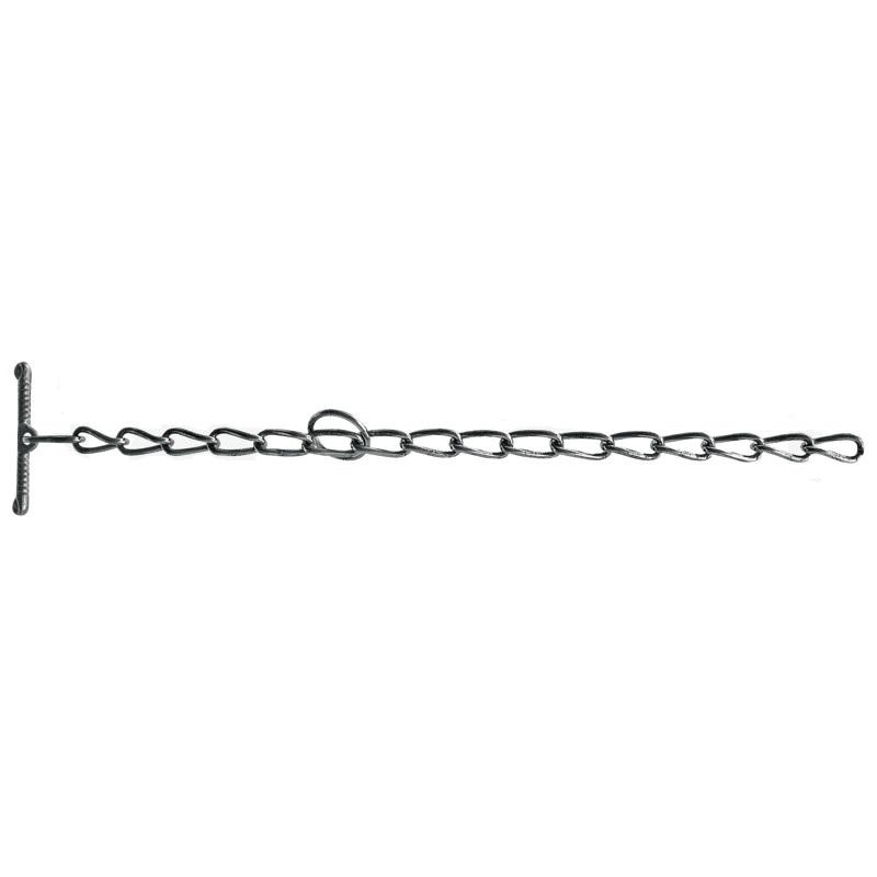 Fixační řetěz 600 mm tloušťka 5 mm bez obrtlíku s kličkou