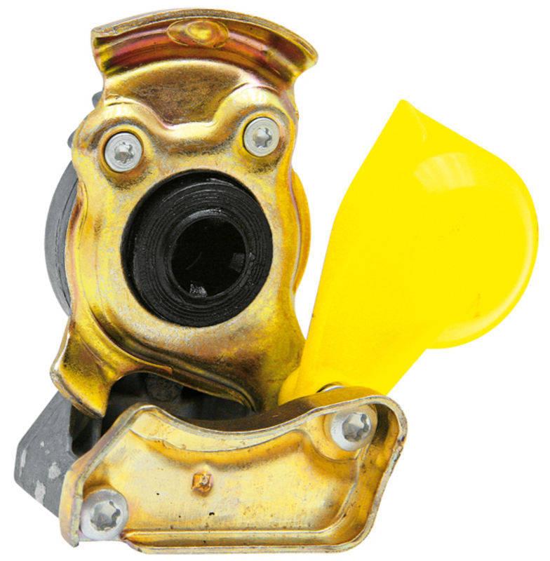 Hlava spojky Wabco pro tažná vozidla žlutá provedení M 22 x 1,5