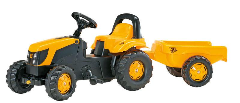 Rolly Toys modelová řada Rolly Kid - šlapací traktor JCB s přívěsem