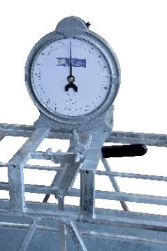 Ukazatel váhy pro mobilní fixační klec na ovce Pasdelou s mechanickou váhou do 100 kg
