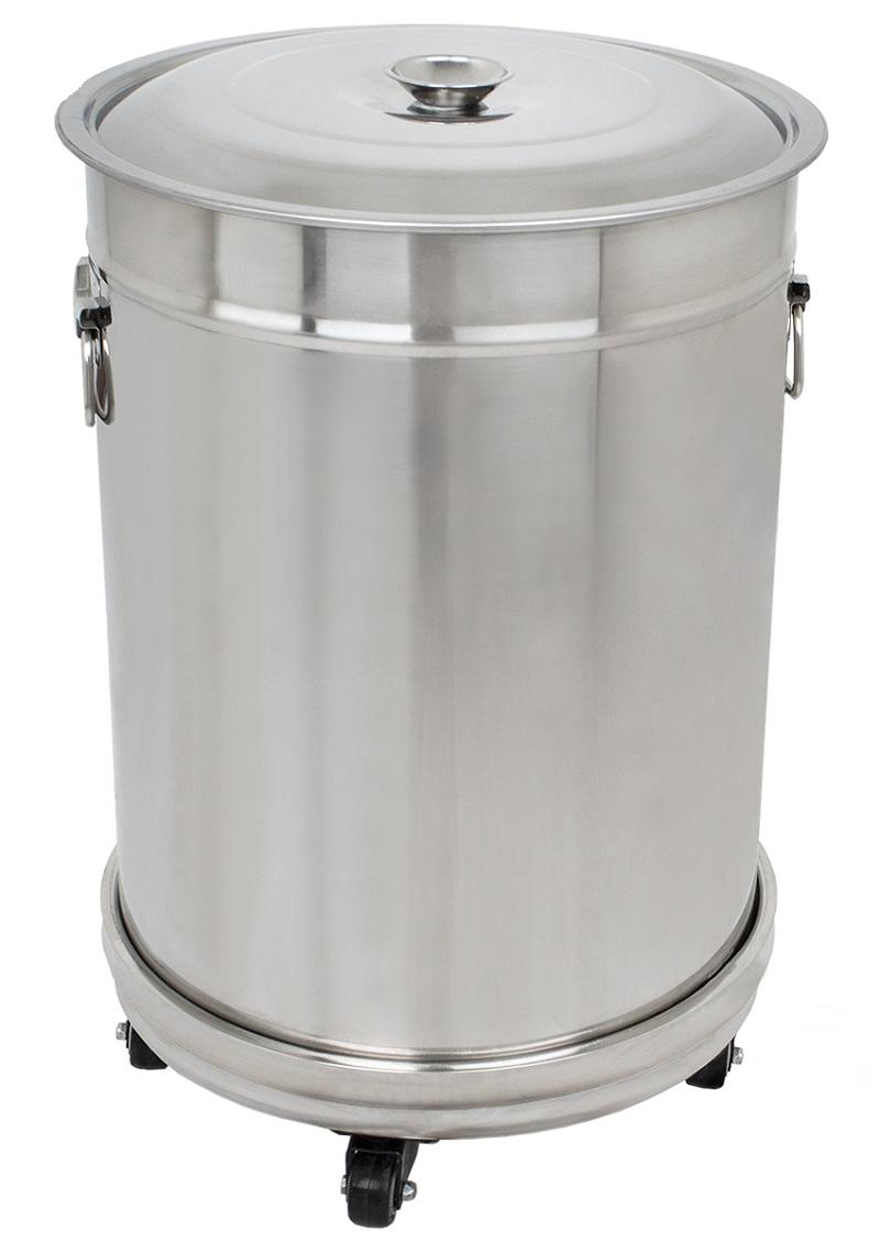 Nerezový odpadkový koš Beeketal BGA-1 objem 56 l na kolečkách 390 x 580 mm pro gastro