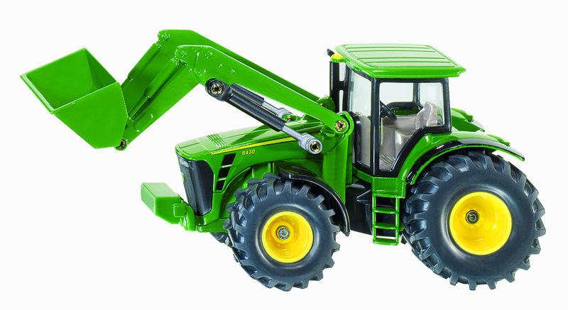 Siku – traktor John Deere 8430 s čelním nakladačem 1:50