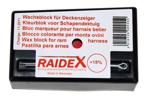 Křída Raidex k označení připuštěných ovcí