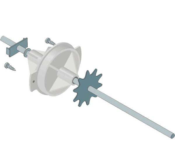 Rolly Toys - zadní náprava s pastorkem průměr hřídele 10 mm