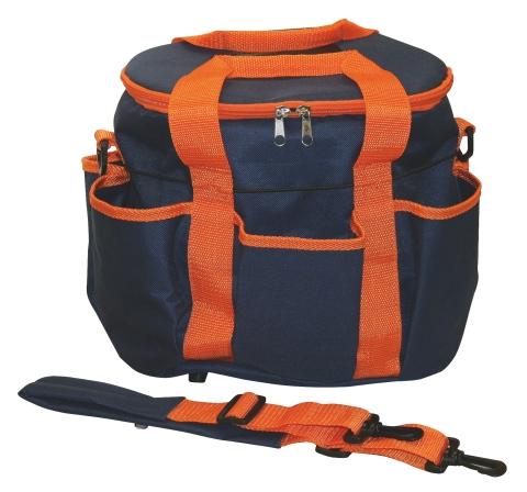 Taška na čištění koní tmavomodro/oranžová