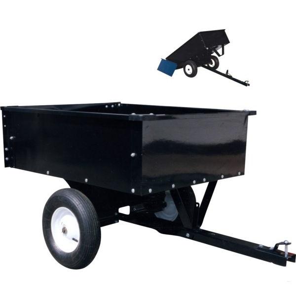 Přívěs, přívěsný vozík GoPart dvoukolový za zahradní traktor, čtyřkolku nosnost 225 kg