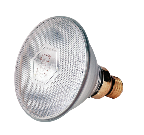 Topná infra žárovka úsporná bílá 100 W