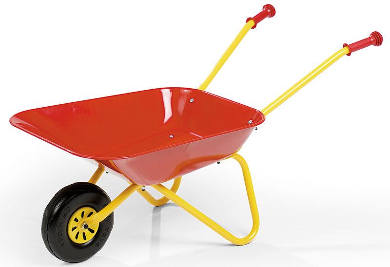 Fotografie Kolečko plechové dětské červené Rolly Toys