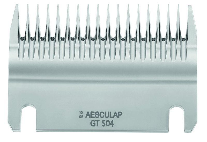 Spodní nůž GT 504 široký 18 zubů ke strojku na stříhání skotu a koní Aesculap Econom II
