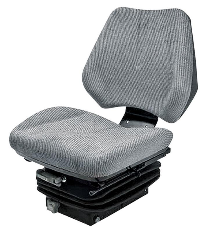 Traktorová sedačka Granit mechanicky odpružená šedý látkový potah