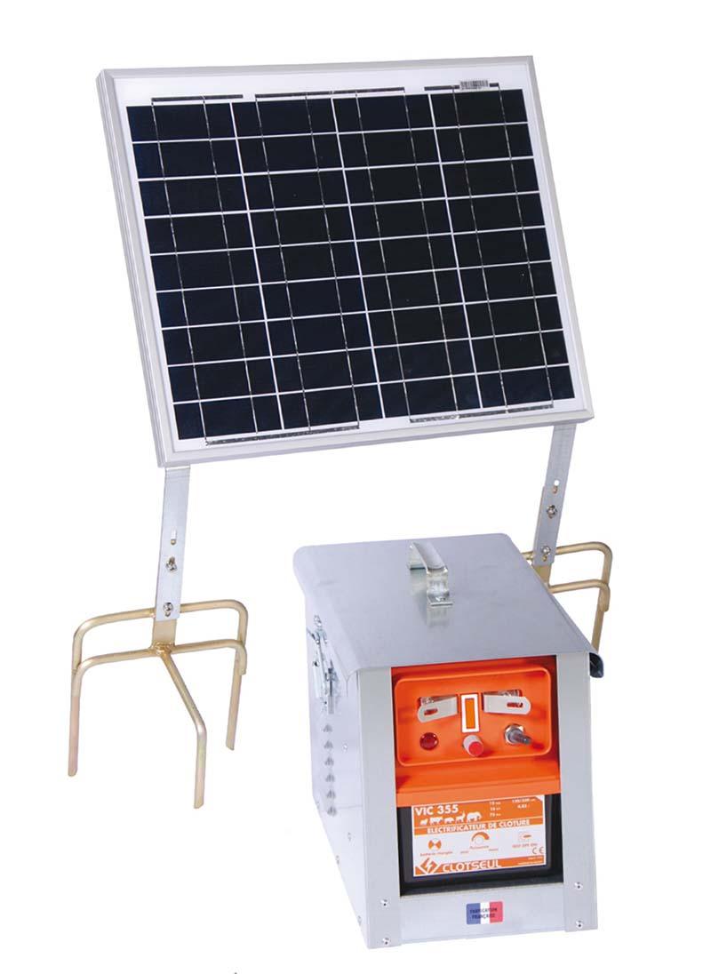 CLOTSEUL VIC 355 bateriový zdroj napětí pro elektrický ohradník se solárem 30 W, 4,78J