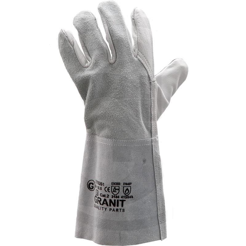 Svářečské rukavice délka 35 cm kombinované norma EN 388 / EN 407