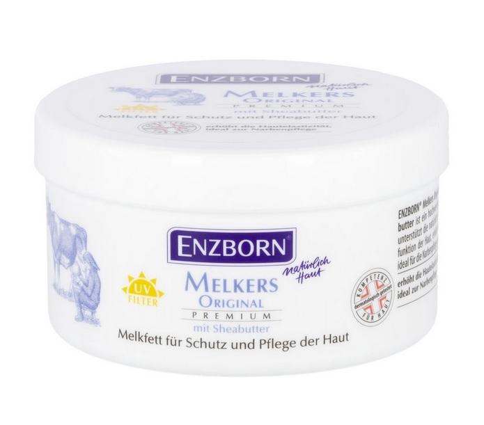 Krém z mléčného tuku Melkfett Plus ENZBORN s příměsí vilínu, aloe vera a bergamotu 250 ml