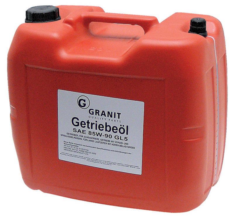 Převodový olej Granit EP85W-90 GL-5 SAE 85W-90 do hypoidních převodovek 20 l