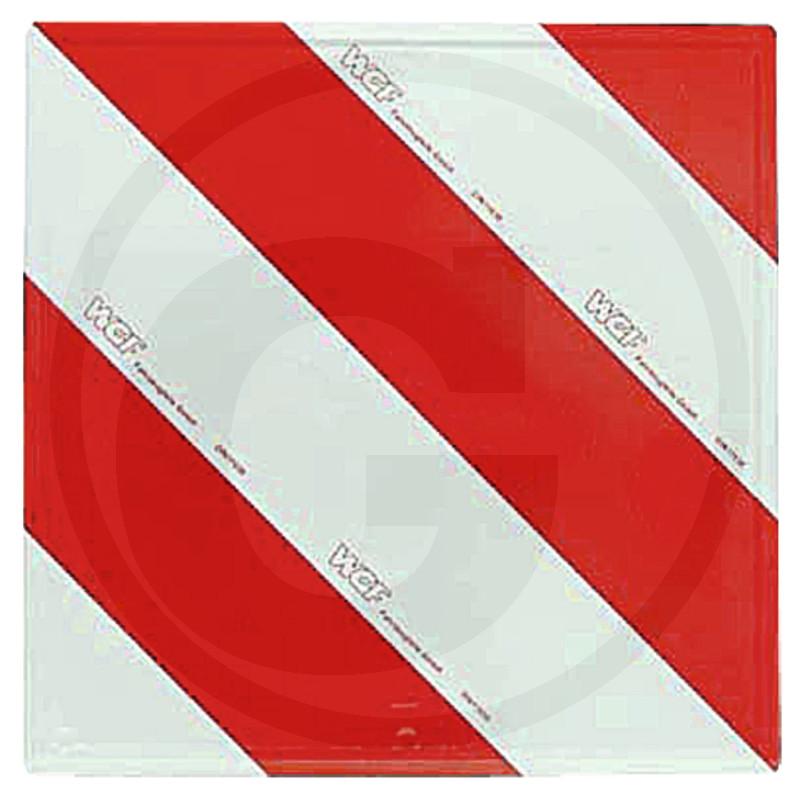 Výstražná tabulka pro vozidla přesahující do šířky a výšky levá reflexní 423 x 423 mm
