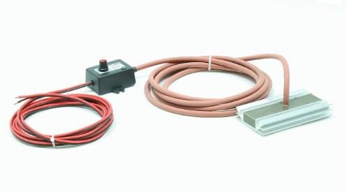 Topné těleso s termostatem 12V/80W IP68 vhodné do míčových napáječek