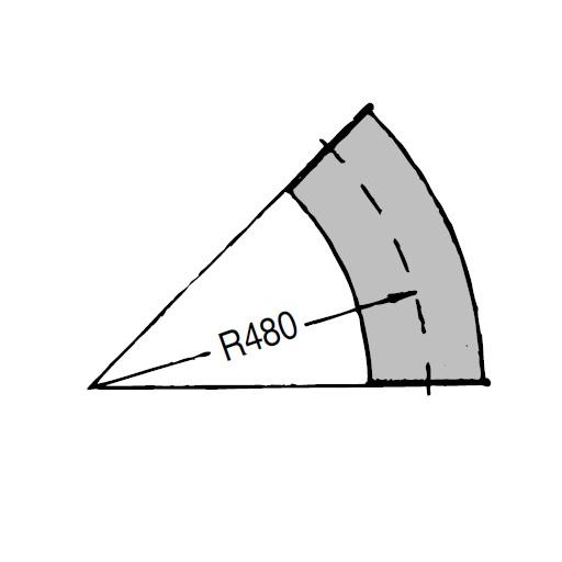 OKR 160 Koleno Kongskilde 45° pozinkované
