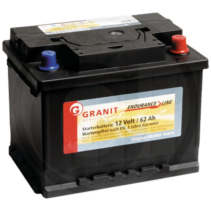 Auto baterie Granit Endurance Line 12V / 62Ah, patice B3 vhodná pro New Holland