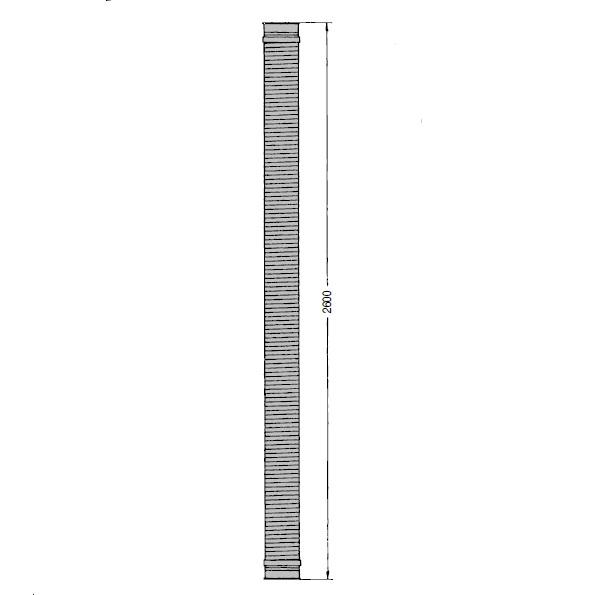 OK 160 Polyuretanová sací hadice Kongskilde 2,5 m