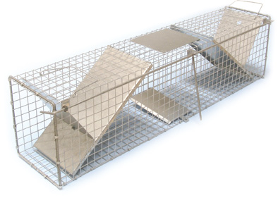Sklopec na kuny, tchoře a kočky zesílený 2 sklopná dvířka 1000 x 200 x 250 mm