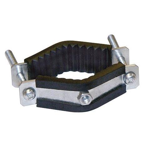Objímka hranatá s matkou M6 pro sloupky 35-70 mm pro elektrický ohradník