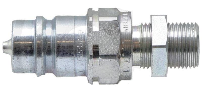 Hydraulická rychlospojka samec s přepážkou KS-S 18L (M26x1,5) DN12-BG3