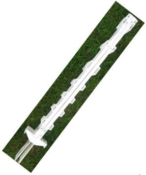 Bílý plastový sloupek, tyčka Standard 105 cm s ocelovou špičkou pro elektrický ohradník
