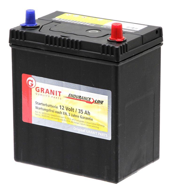 Autobaterie 12V 35Ah Granit bezúdržbová do auta, traktoru startovací proud 270A, 1/3