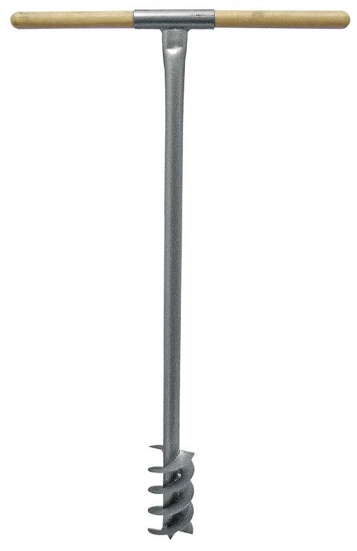Půdní vrták IDEAL ruční s dřevěnou rukojetí průměr 150 mm délka 105 cm