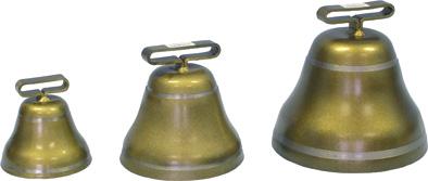 Pastevní zvonec ocelový v barvě bronzové
