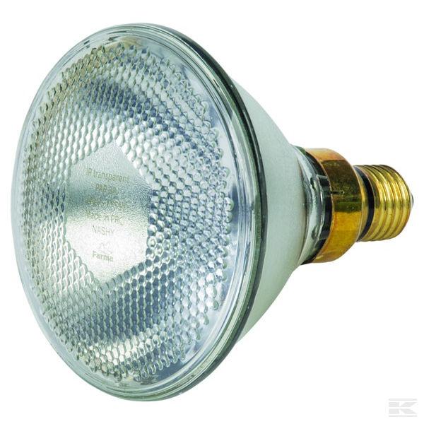 Topná infra žárovka úsporná bílá FARMA 100 W