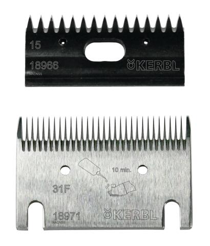 Sada nožů 15/31F zubů k profesionálnímu stříhacímu strojku pro koně a skot Constanta 3 a 4