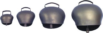 Pastevní zvonec plechový ocelově modrý