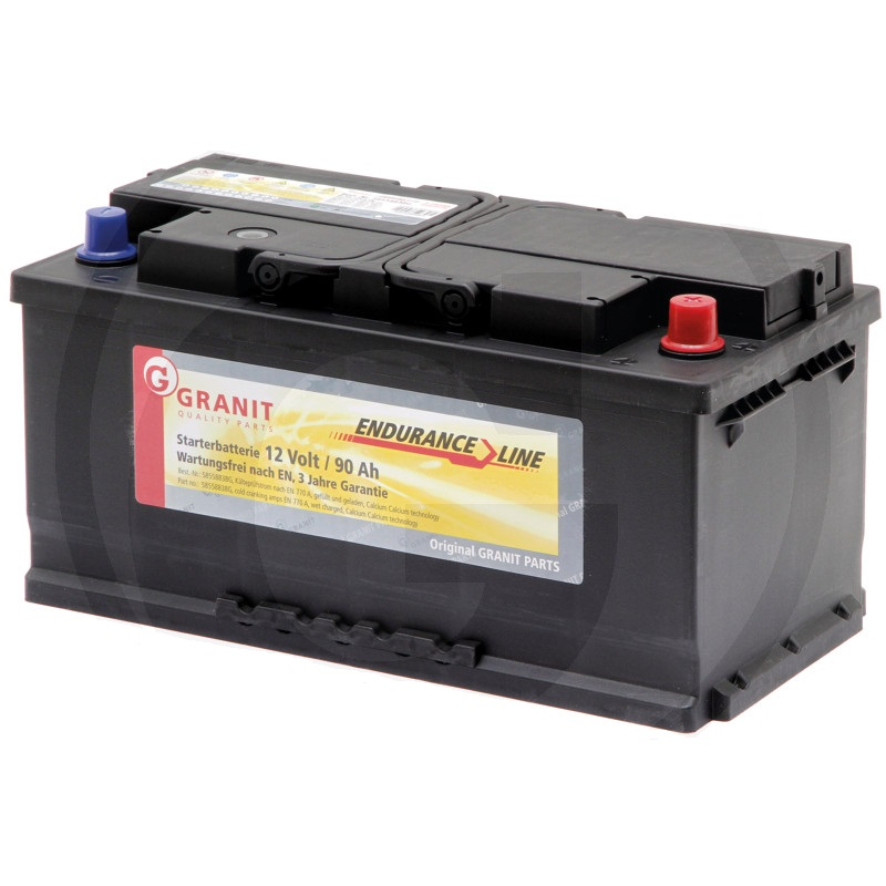 Auto baterie Granit Endurance Line 12V / 90 Ah, patice B03/B04 pro AL-KO, Amazone, Zetor