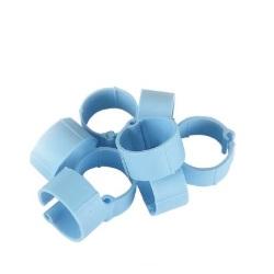 Fotografie Zámkové kroužky na slepice a kachny 16 mm modrý 20 ks