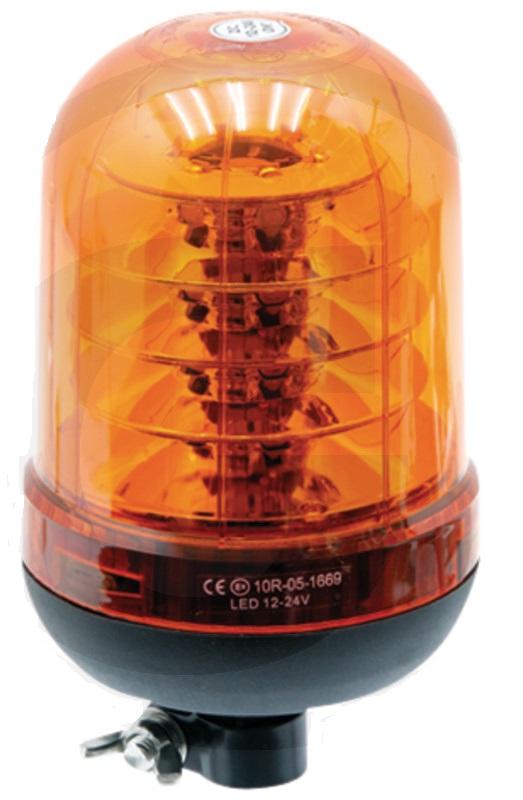 LED maják oranžový výstražný 12V/24V 60 LED diod přepnutí blikání a maják
