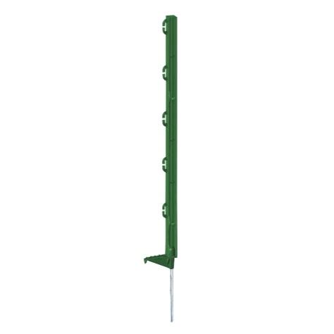 Zelený plastový sloupek, tyčka 70 cm s ocelovou špičkou pro elektrický ohradník