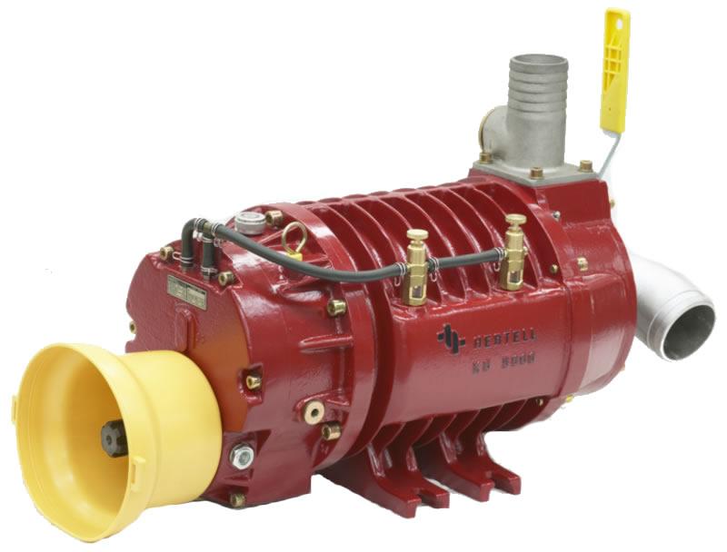 Vývěva na fekál HERTELL KD-12.000, vakuové čerpadlo, kapacita 12000 l/min 540 ot/min