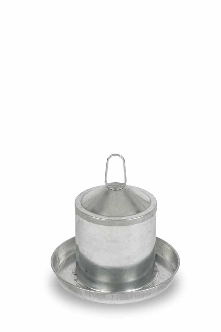 Napáječka kovová Gaun pro drůbež 2 l
