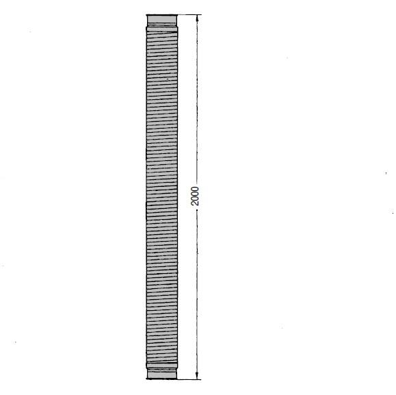 OK 160 Ocelová ohebná hadice Kongskilde 2 m