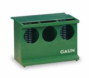 Krmítko pro křepelky, kuřata, holuby a koroptve se 3 otvory podlahové plastové
