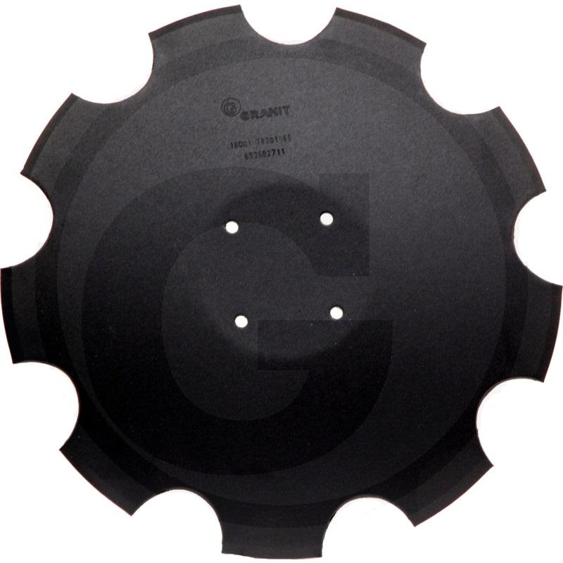 Ozubený disk diskové brány Amazone Catros, Catros+ průměr D=510 mm, tloušťka S=5 mm