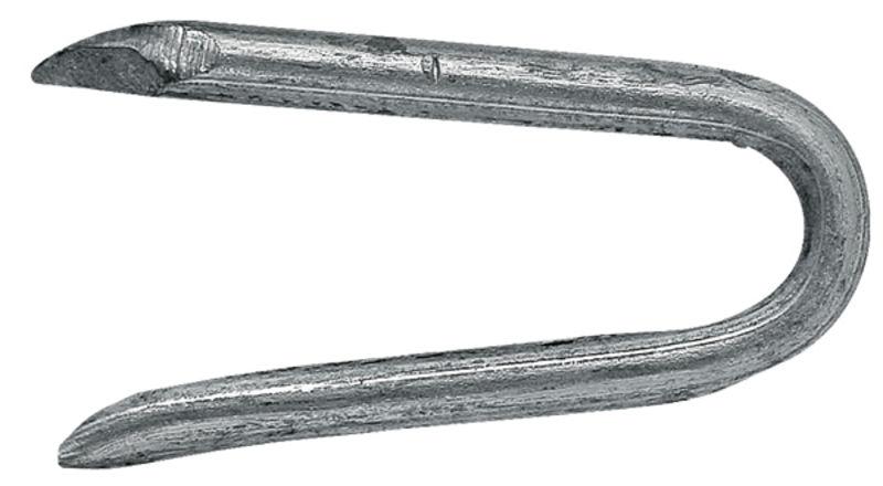 Zinkovaná skoba k upevnění ostnatého drátu, spona na ohradní pletivo 3×38 mm balení 5 kg